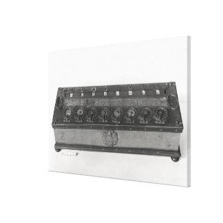 Máquina calculadora inventada impresión de lienzo