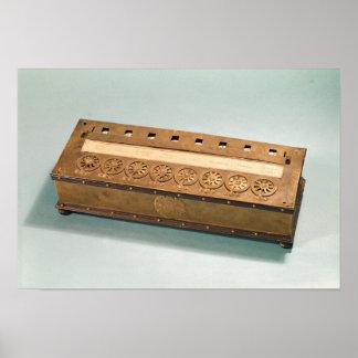 Máquina calculadora inventada por Blaise Pascal Posters