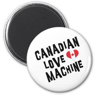 Máquina canadiense del amor imán de nevera