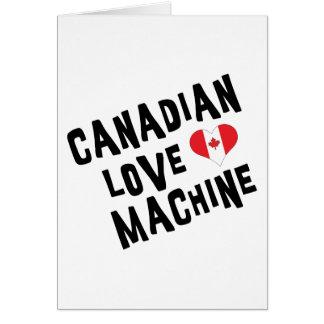 Máquina canadiense del amor tarjetón