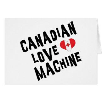 Máquina canadiense del amor felicitaciones