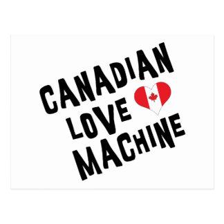 Máquina canadiense del amor tarjeta postal