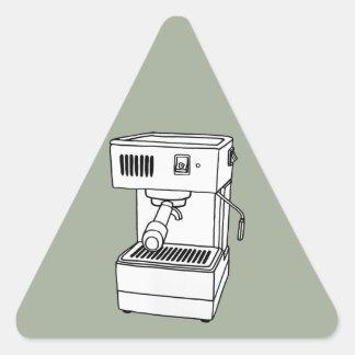 Máquina de café express pegatina triangular