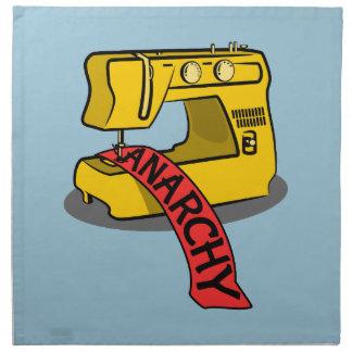 Máquina de coser amarilla de la anarquía servilleta de papel