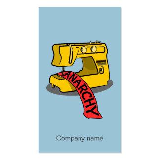 Máquina de coser amarilla de la anarquía tarjetas de visita