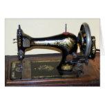 Máquina de coser antigua Notecard Tarjetón