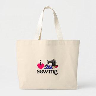 Máquina de coser bolsa tela grande