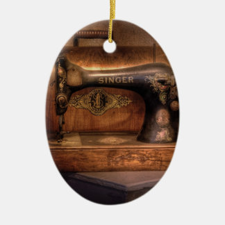 Máquina de coser - cantante adorno para reyes