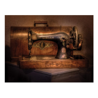 Máquina de coser - cantante postal