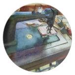 Máquina de coser con Sissors Plato De Comida