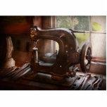 Máquina de coser - cuero - alcantarilla de la sill esculturas fotograficas
