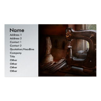 Máquina de coser - cuero - alcantarilla de la tarjetas de visita
