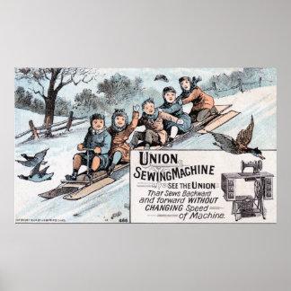 Máquina de coser de costura de la unión de Selding Poster