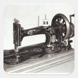 "Máquina de coser de la ""nueva familia"" del pegatina cuadrada"