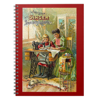 """Máquina de coser del cantante vintage """"de la prime cuaderno"""