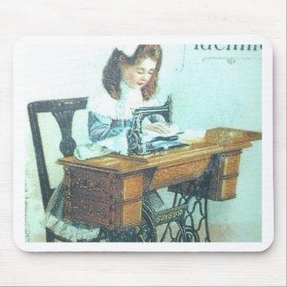 Máquina de coser del vintage alfombrilla de ratones