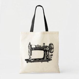 Máquina de coser del vintage bolsa tela barata