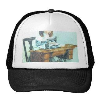 Máquina de coser del vintage gorra