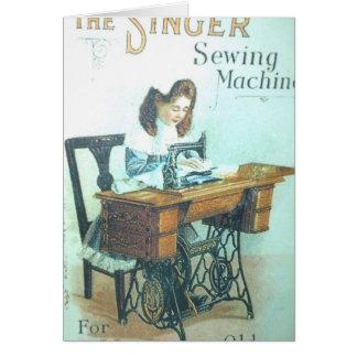 Máquina de coser del vintage tarjeta de felicitación