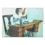 Máquina de coser del vintage tarjetas