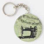 Máquina de coser elegante francesa del vintage llaveros