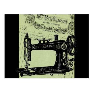 Máquina de coser elegante francesa del vintage tarjetas postales
