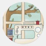 máquina de coser etiqueta