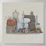 Máquina de coser manual poster