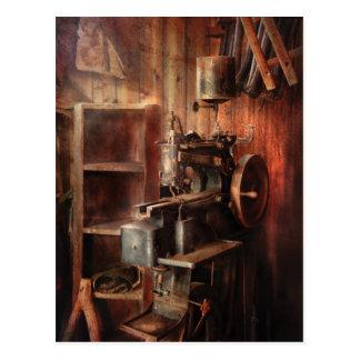 Máquina de coser - máquina de coser para la fabric tarjeta postal