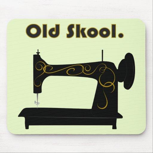 Máquina de coser Mousepad del vintage Tapete De Ratón