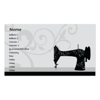 Máquina de coser - negocio tarjetas de visita