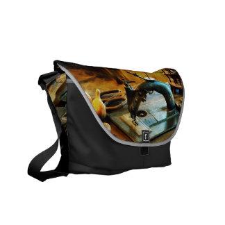 Máquina de coser pasada de moda bolsas de mensajería