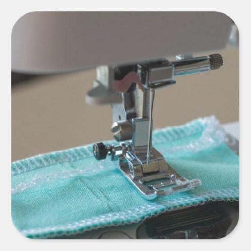 Máquina de coser pegatina cuadrada