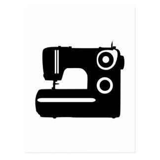 Máquina de coser postales