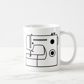 Maquina de coser taza de café