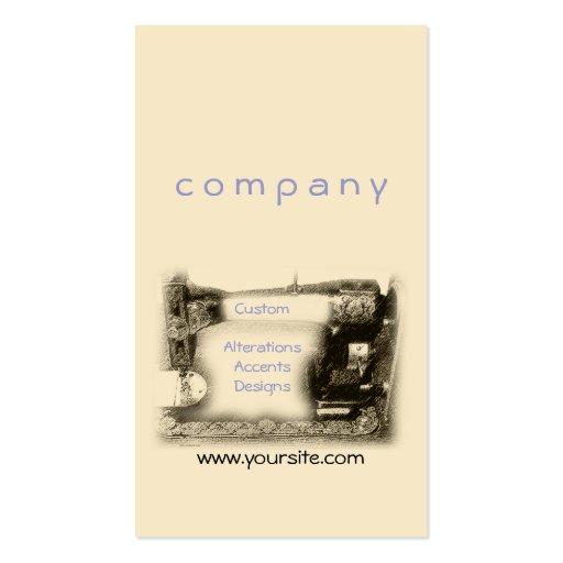 Máquina de coser vieja tarjetas de visita