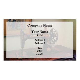 Máquina de coser y litografía plantilla de tarjeta personal