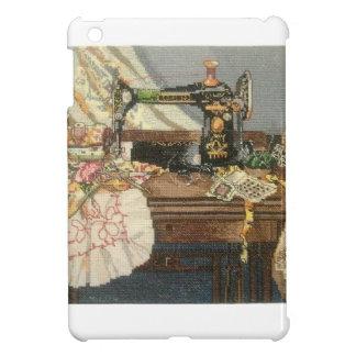 Máquina de coser y vestido