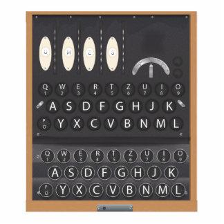 Máquina de Enigma Fotoescultura Vertical