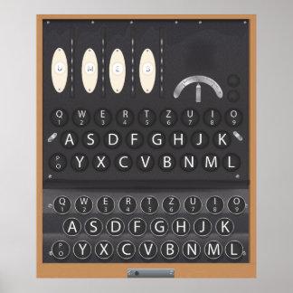Máquina de Enigma Posters