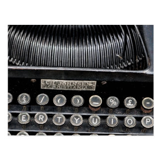 Máquina de escribir antigua 2 postales