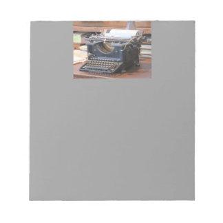 Máquina de escribir antigua bloc de papel
