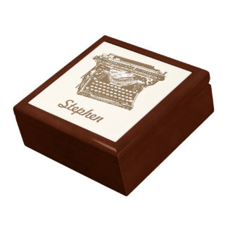 Máquina de escribir antigua cajas de joyas