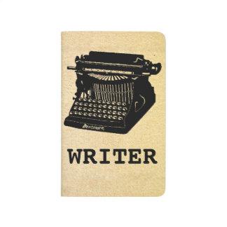 Máquina de escribir antigua del escritor cuadernos
