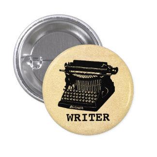 Máquina de escribir antigua del escritor pin redondo 2,5 cm