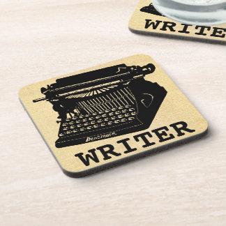 Máquina de escribir antigua del escritor posavasos de bebidas