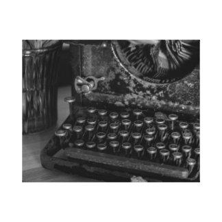 Máquina de escribir antigua del vintage impresion en lona