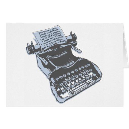 Máquina de escribir antigua felicitacion