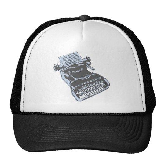 Máquina de escribir antigua gorro