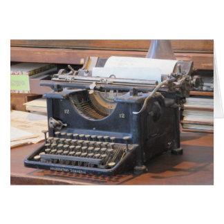 Máquina de escribir antigua Notecard Tarjeta Pequeña